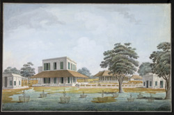 Rear view of Mr. Oldfield's house at Maidapur